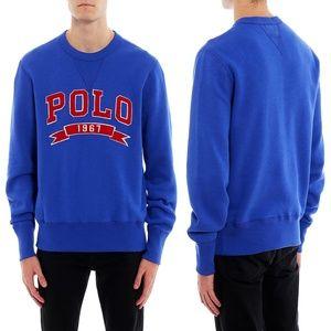 Polo Ralph Lauren Logo Crewneck Sweatshirt Blue